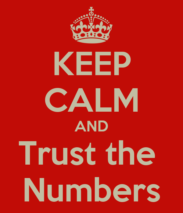 KEEP CALM AND Trust the  Numbers