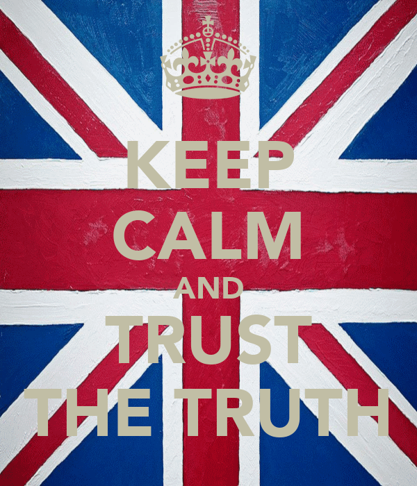 KEEP CALM AND TRUST THE TRUTH