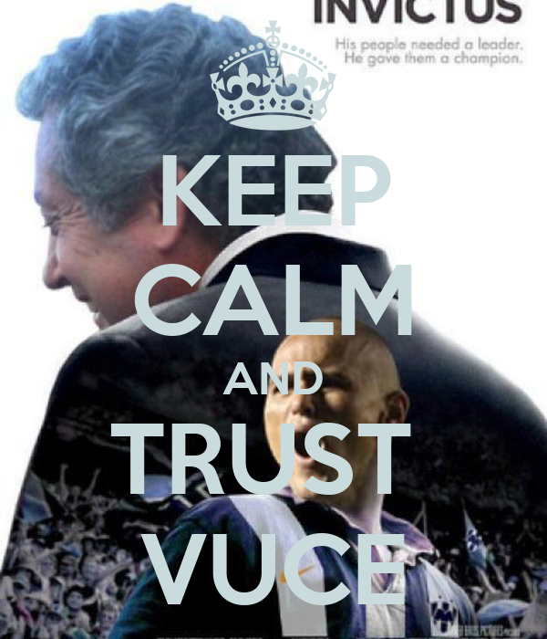 KEEP CALM AND TRUST  VUCE