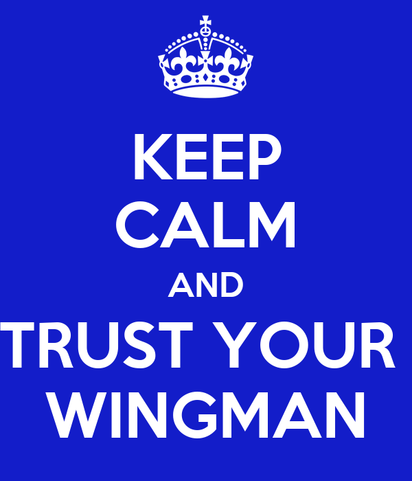 KEEP CALM AND TRUST YOUR  WINGMAN
