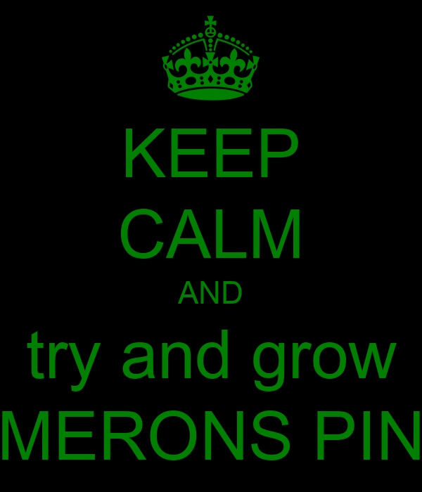 KEEP CALM AND try and grow CAMERONS PINER