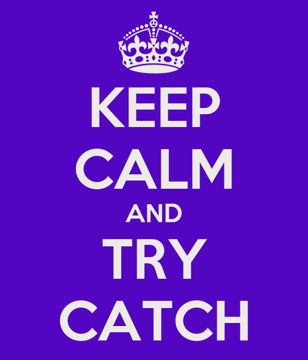 KEEP CALM AND TRY CATCH