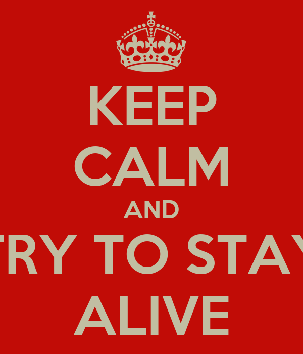 KEEP CALM AND TRY TO STAY ALIVE