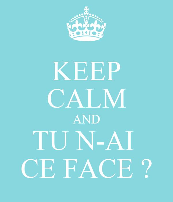 KEEP CALM AND TU N-AI  CE FACE ?