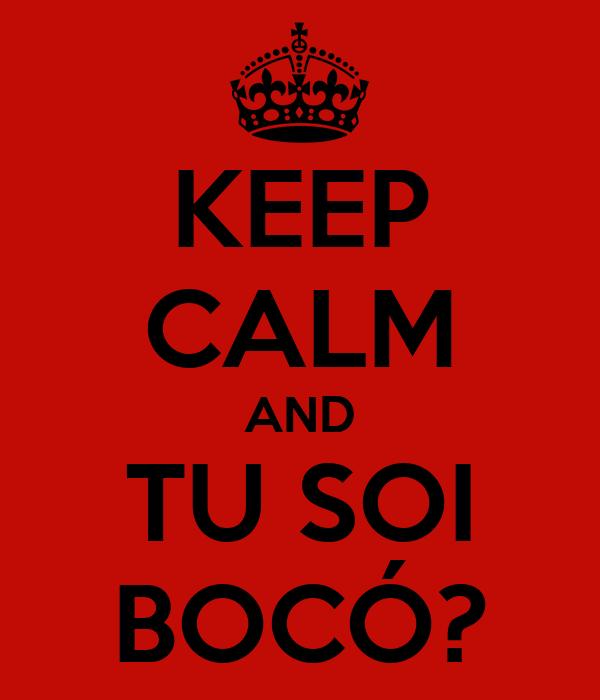 KEEP CALM AND TU SOI BOCÓ?