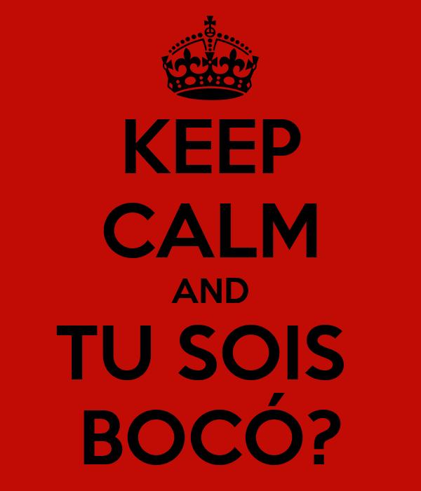 KEEP CALM AND TU SOIS  BOCÓ?