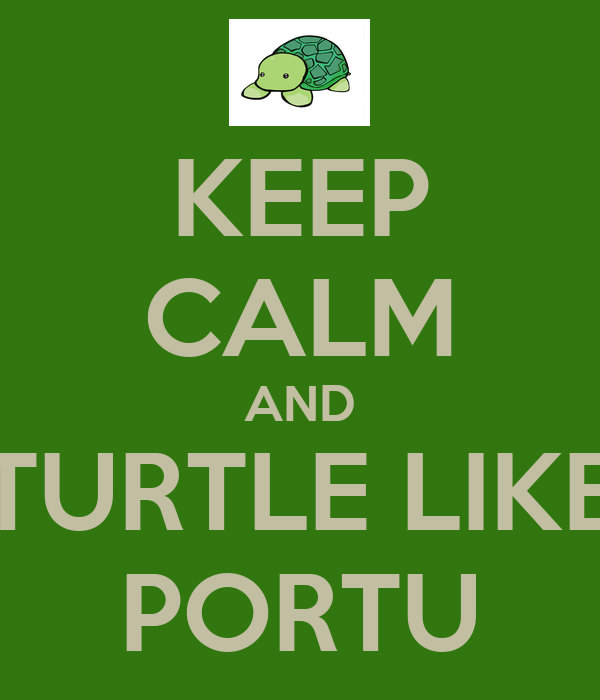 KEEP CALM AND TURTLE LIKE PORTU