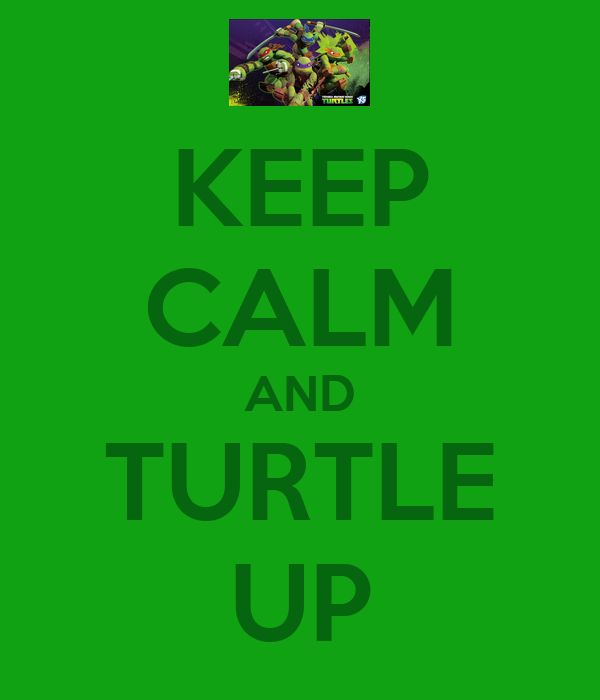 KEEP CALM AND TURTLE UP