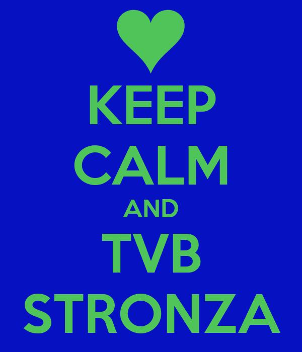 KEEP CALM AND TVB STRONZA