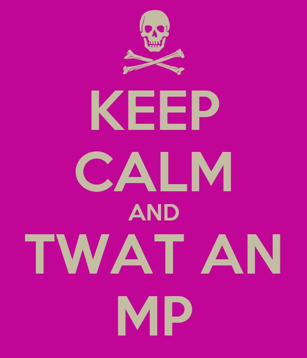 KEEP CALM AND TWAT AN MP