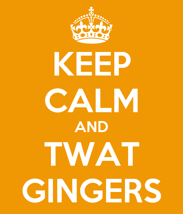 KEEP CALM AND TWAT GINGERS