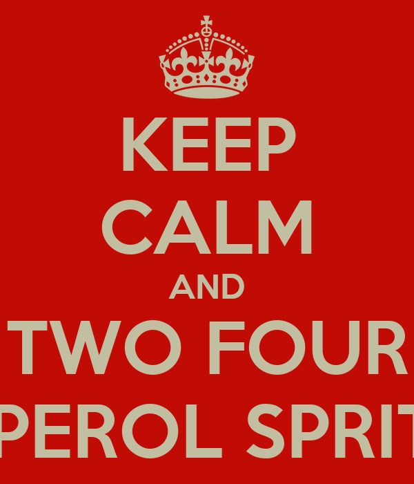 KEEP CALM AND TWO FOUR APEROL SPRITZ
