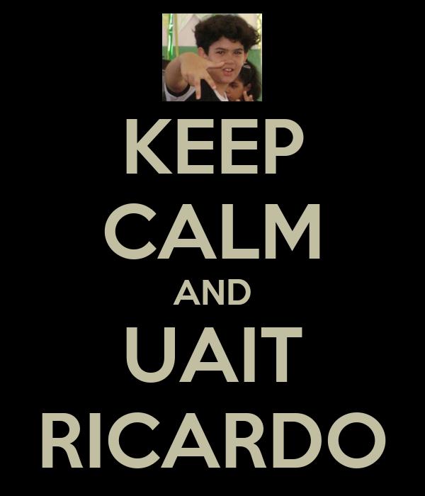 KEEP CALM AND UAIT RICARDO