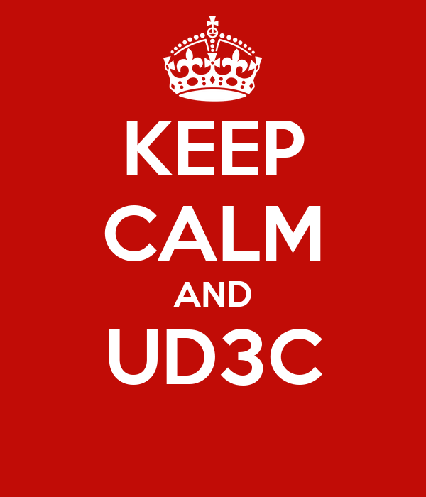 KEEP CALM AND UD3C