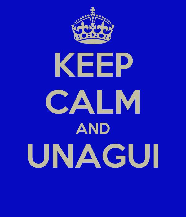 KEEP CALM AND UNAGUI