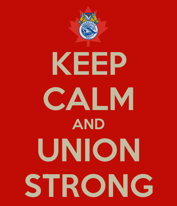 KEEP CALM AND UNION STRONG