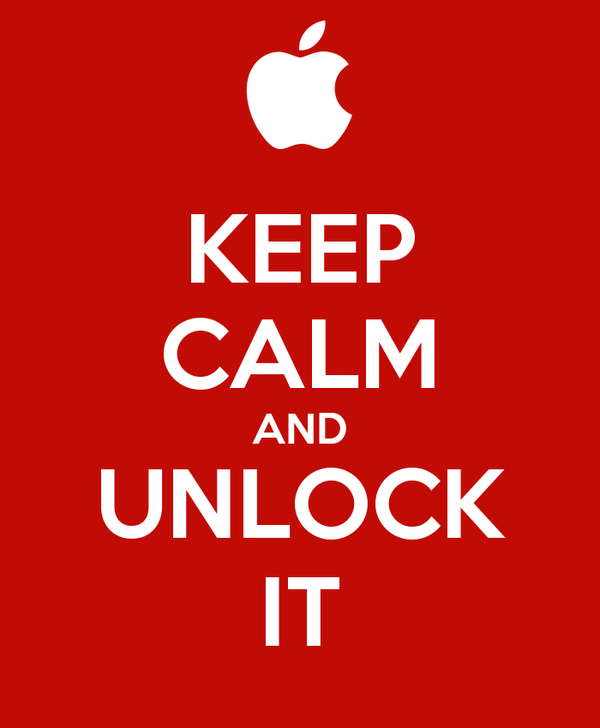 KEEP CALM AND UNLOCK IT