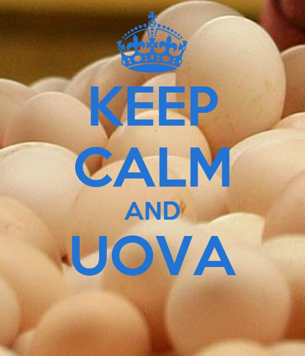 KEEP CALM AND UOVA