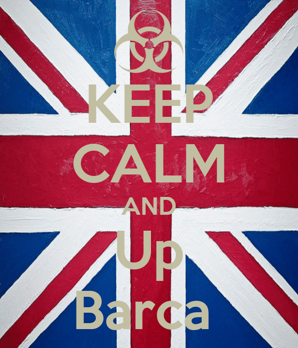 KEEP CALM AND Up Barca
