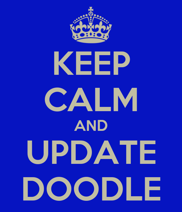 KEEP CALM AND UPDATE DOODLE