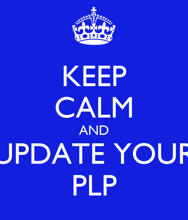 KEEP CALM AND UPDATE YOUR PLP