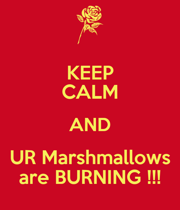 KEEP CALM AND UR Marshmallows are BURNING !!!