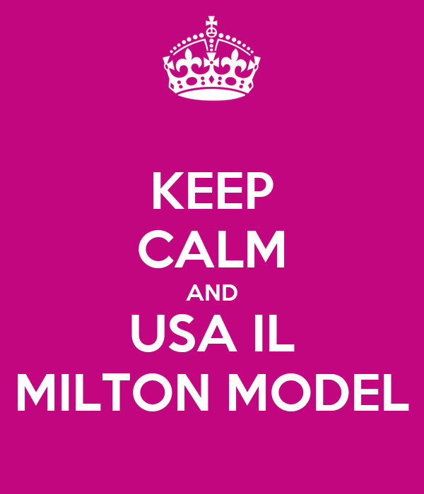 KEEP CALM AND USA IL MILTON MODEL