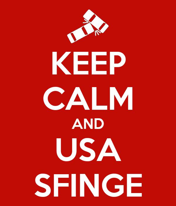 KEEP CALM AND USA SFINGE