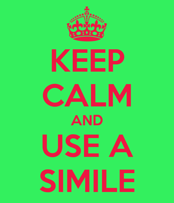 keep calm and use a simile poster kendra haddock keep calm o matic