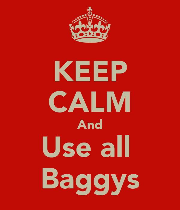KEEP CALM And Use all  Baggys