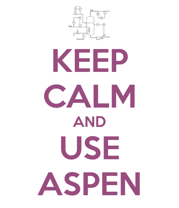 KEEP CALM AND USE ASPEN