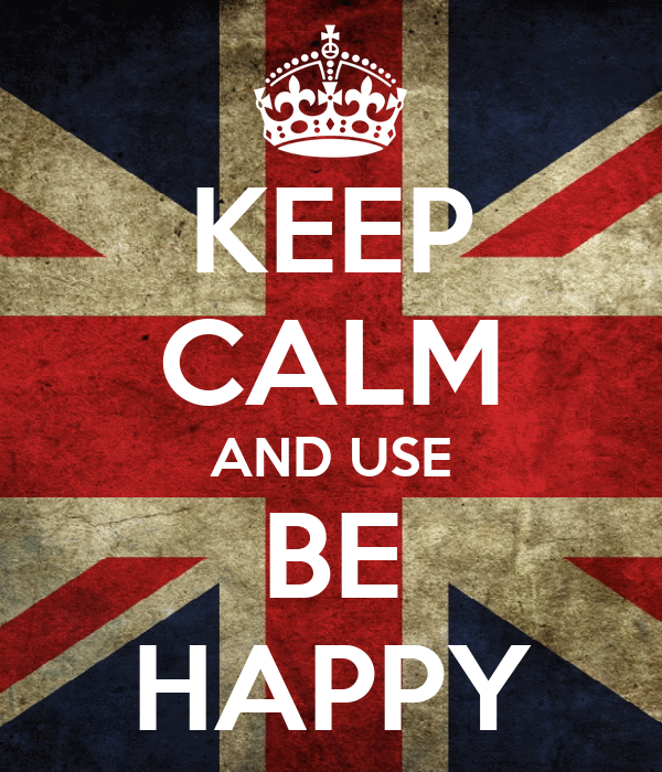 KEEP CALM AND USE BE HAPPY