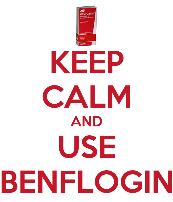 KEEP CALM AND USE BENFLOGIN