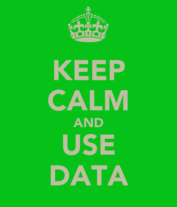 KEEP CALM AND USE DATA