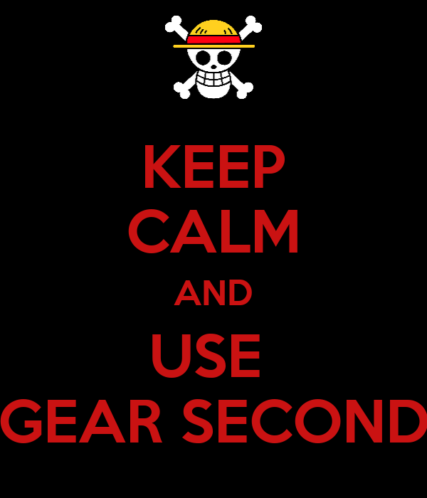 KEEP CALM AND USE  GEAR SECOND
