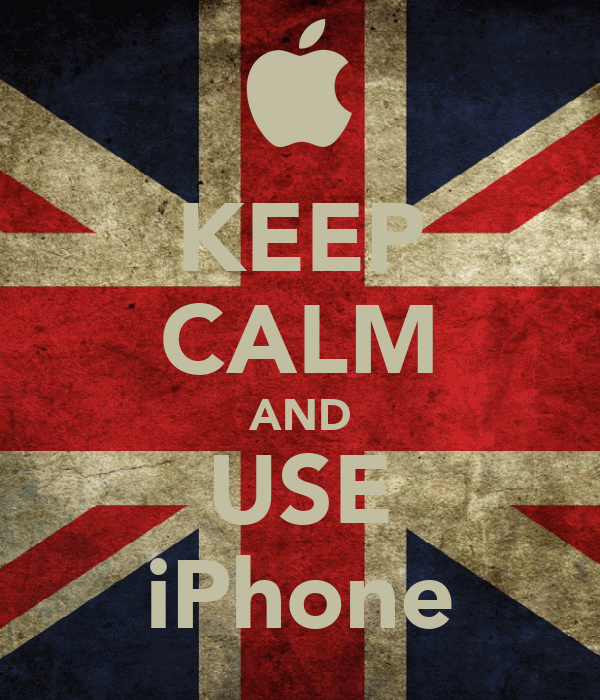 KEEP CALM AND USE iPhone