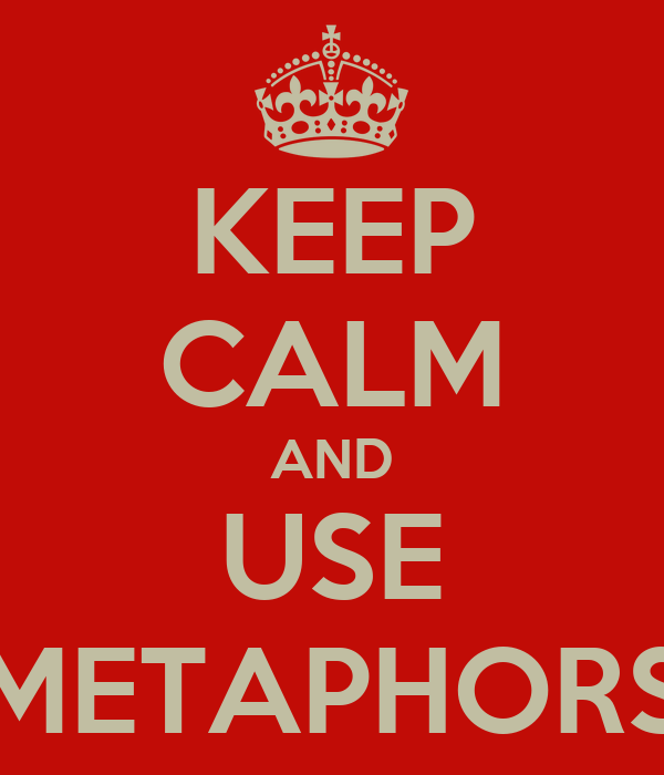 KEEP CALM AND USE METAPHORS