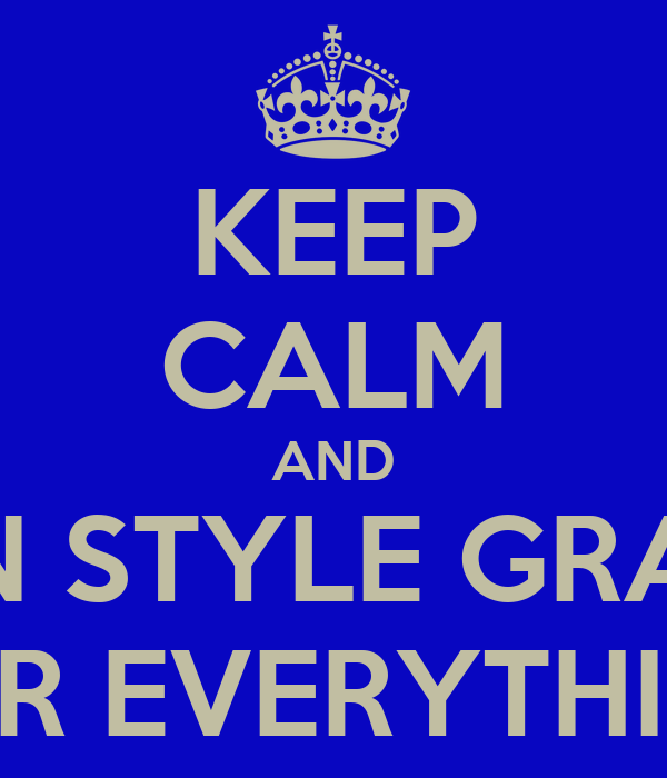 KEEP CALM AND USE N STYLE GRAPHIX FOR EVERYTHING