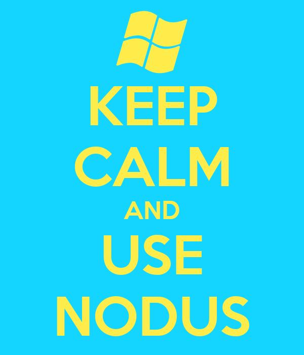 KEEP CALM AND USE NODUS