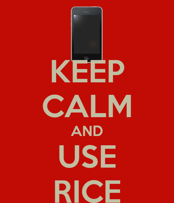 KEEP CALM AND USE RICE