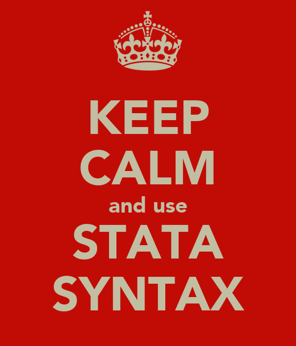 KEEP CALM and use STATA SYNTAX
