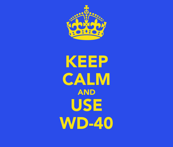 KEEP CALM AND USE WD-40