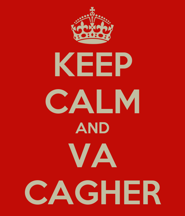 KEEP CALM AND VA CAGHER