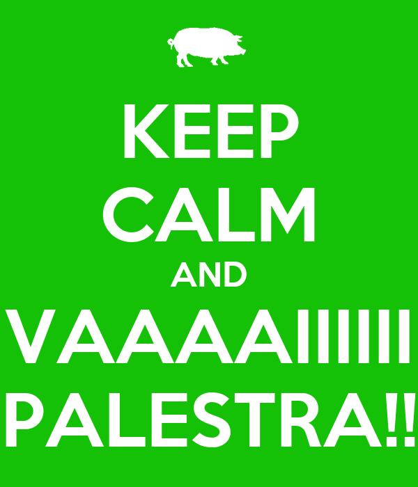 KEEP CALM AND VAAAAIIIIII PALESTRA!!