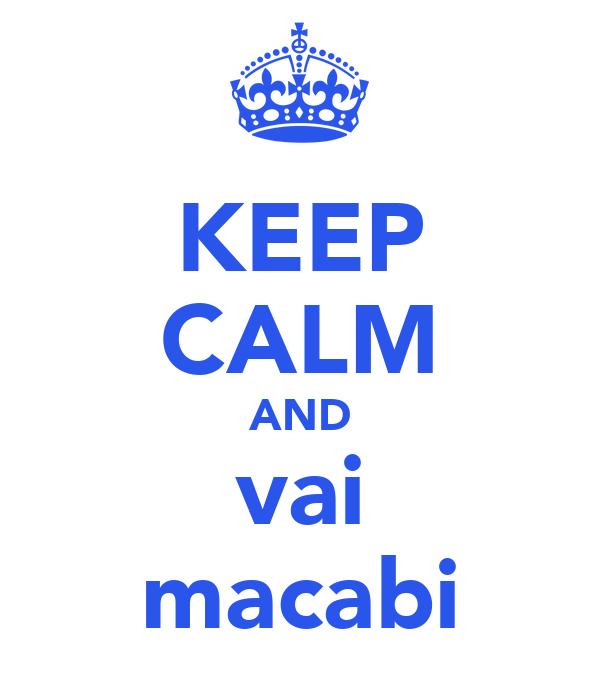 KEEP CALM AND vai macabi