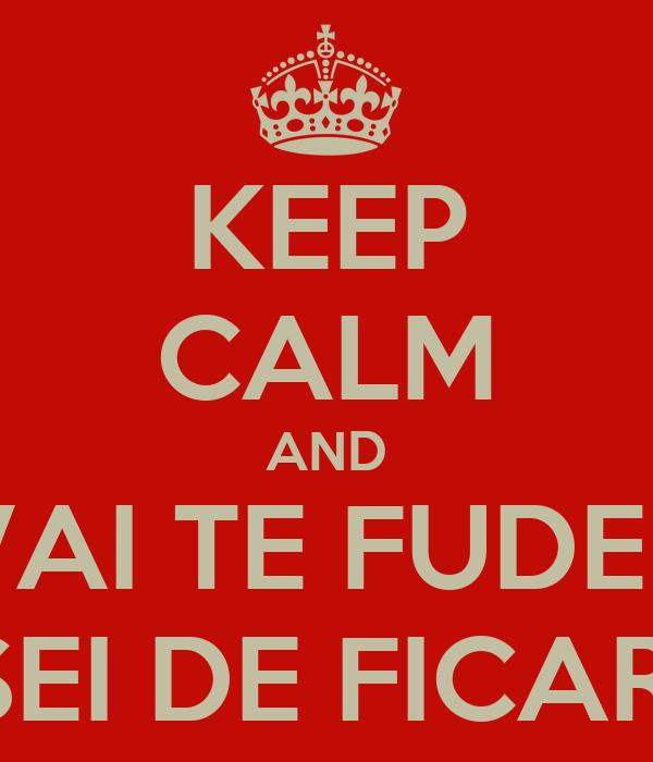 KEEP CALM AND VAI TE FUDER JA CANSEI DE FICAR CALMO