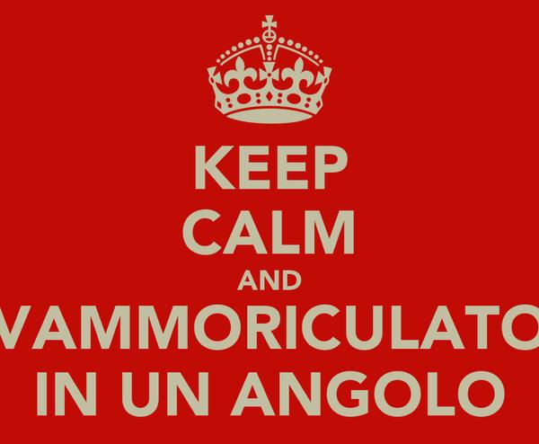 KEEP CALM AND VAMMORICULATO IN UN ANGOLO