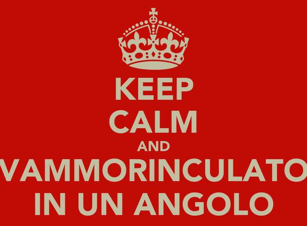 KEEP CALM AND VAMMORINCULATO IN UN ANGOLO