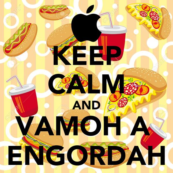 KEEP CALM AND VAMOH A  ENGORDAH