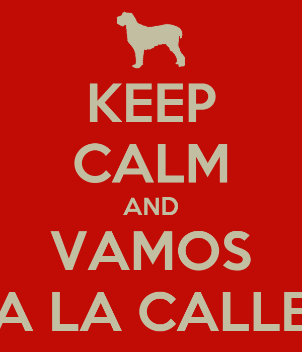 KEEP CALM AND VAMOS A LA CALLE